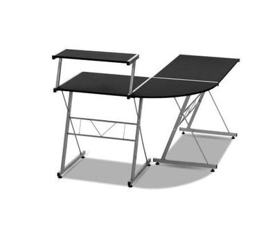 Three-piece Computer Desk Black | 360HomeWare