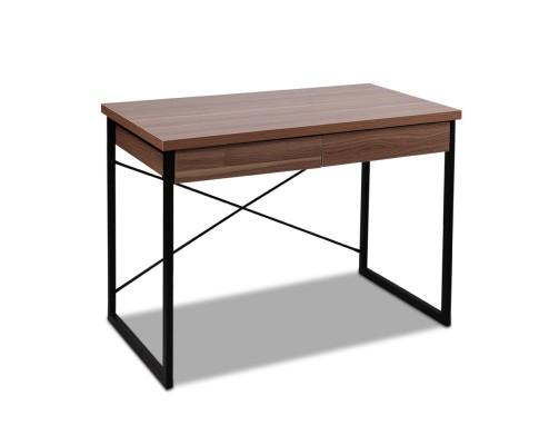 Computer Desk with Drawers (Walnut) | 360HomeWare