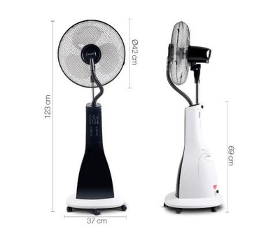 Portable Misting Fan with Remote Control - White | 360HomeWare