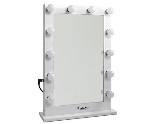 Make Up Mirror with LED Lights - White 75cm by 50cm | 360HomeWare