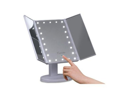 LED Tri-Fold Make Up Mirror | 360HomeWare