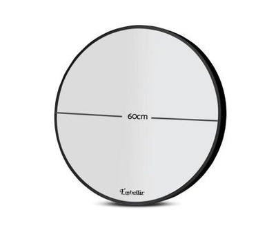 60cm Frameless Round Wall Mirror | 360HomeWare