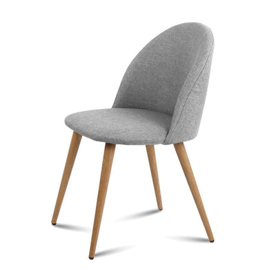 2 X Artiss Dining Chairs Armchair Light Grey | 360HomeWare