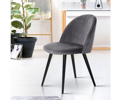 Velvet Modern Dining Chair - Dark Grey | 360HomeWare