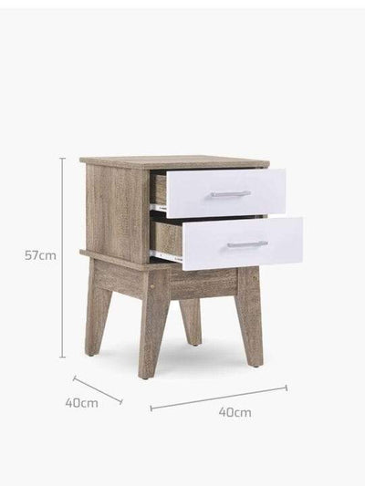 Bedside Table Oak | 360HomeWare