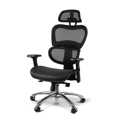 Executive Deluxe Office Mesh Chair Net High Back Home School Gaming Black | 360HomeWare