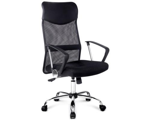 PU Leather Mesh High Back Office Chair - Black | 360HomeWare