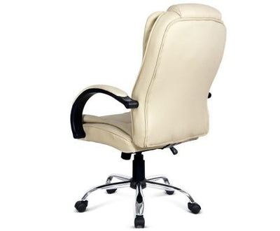 Executive PU Leather Office Desk Computer Chair - Beige | 360HomeWare