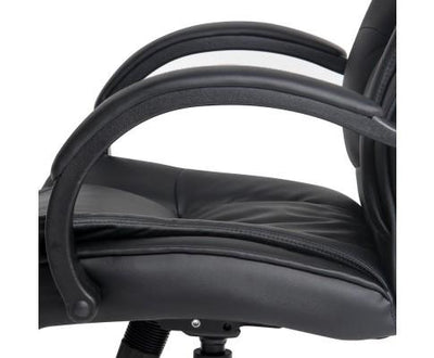 Executive PU Leather Office Desk Computer Chair - Black | 360HomeWare
