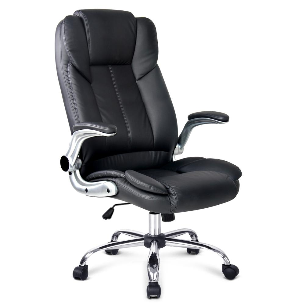 PU Leather Executive Office Desk Chair - Black | 360HomeWare