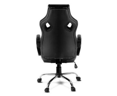 Racing Style PU Leather Office Desk Chair - Black | 360HomeWare