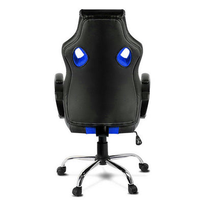 Racing Style PU Leather Office Desk Chair - Blue | 360HomeWare