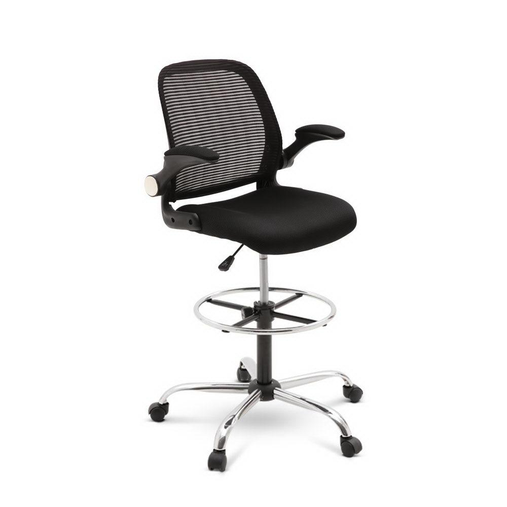 Veer Drafting Stool Office Chair Mesh Adjust Black | 360HomeWare