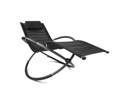 Foldable Orbital Rocking Chair - Black | 360HomeWare