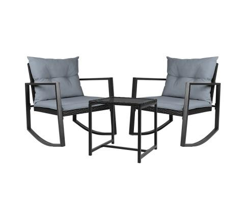 Outdoor Rocking Set - Black | 360HomeWare