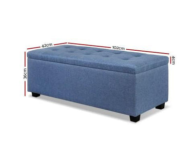 Premium Storage Ottoman - Blue | 360HomeWare