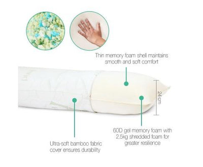 Full Body Memory Foam Pillow | 360HomeWare