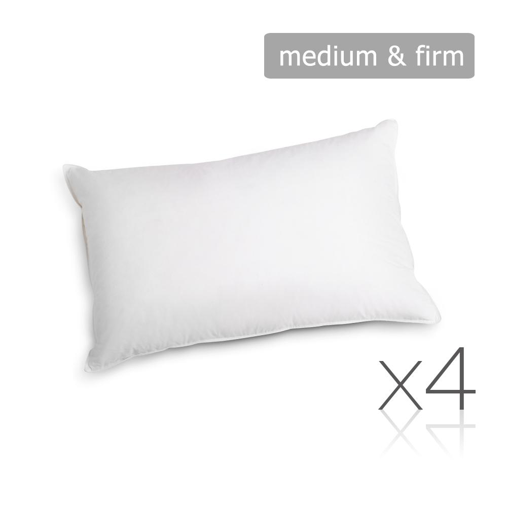 Set of 4 Medium & Firm Cotton Pillows | 360HomeWare