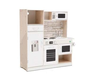 Wooden Kitchen Pretend Play Set - Beige | 360HomeWare