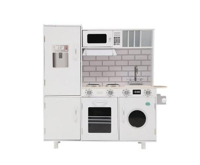 Wooden Kitchen Pretend Play Set - White | 360HomeWare