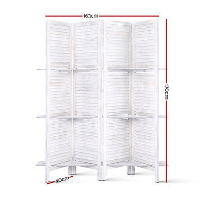Artiss Room Divider Privacy Screen Foldable Partition Stand 4 Panel White | 360HomeWare