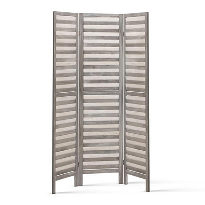 Artiss Room Divider Privacy Screen Foldable Partition Stand 3 Panel Grey | 360HomeWare