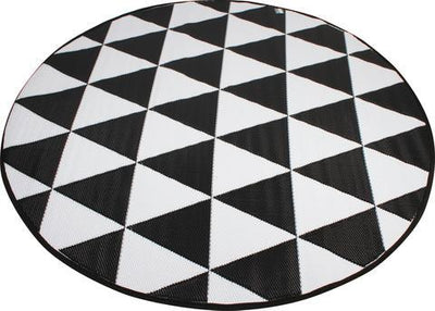 Round Black Outdoor PP Mat | 360HomeWare