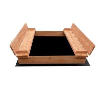 Wooden Outdoor Sandpit Set - Natural Wood | 360HomeWare