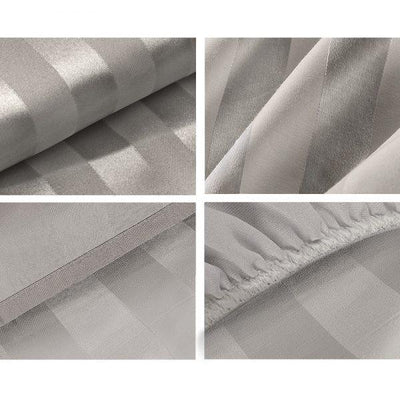 Giselle Bedding 4 Piece Bedsheet Set – Grey | 360HomeWare