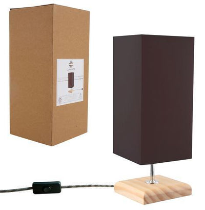 Square Wood Base Table Lamp | 360HomeWare