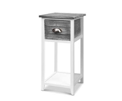 Artiss Thyme Vintage Bedside Table - Grey | 360HomeWare