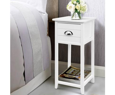 Artiss Vintage Bedside Table Nightstand Drawer | 360HomeWare