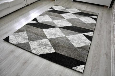 Melbourne Grey White Boondoggle Rug | 360HomeWare