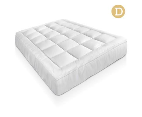 Double Size Mattress Topper - Goose Feather Filling | 360HomeWare