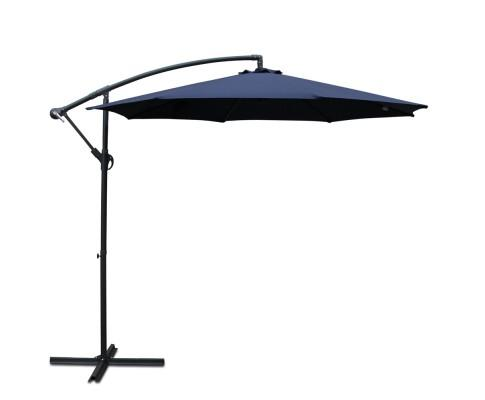 Instahut 3M Cantilevered Outdoor Umbrella - Navy | 360HomeWare