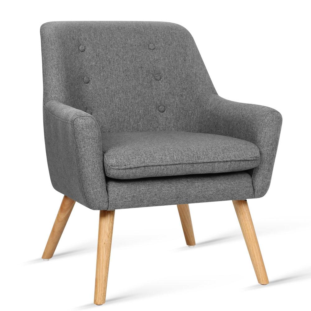 Artiss Fabric Dining Armchair - Grey | 360HomeWare
