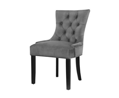 French Provincial Velvet Dining Chair - Grey | 360HomeWare