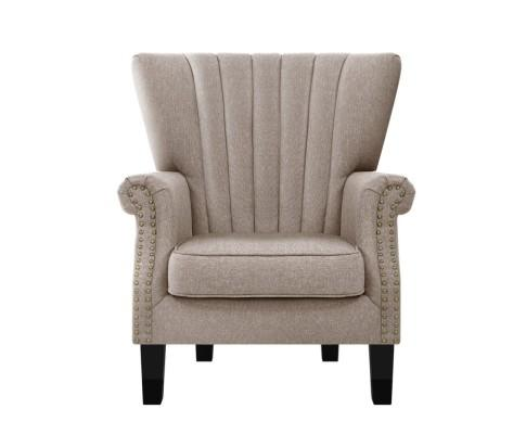 Armchair Lounge Chair - Beige | 360HomeWare