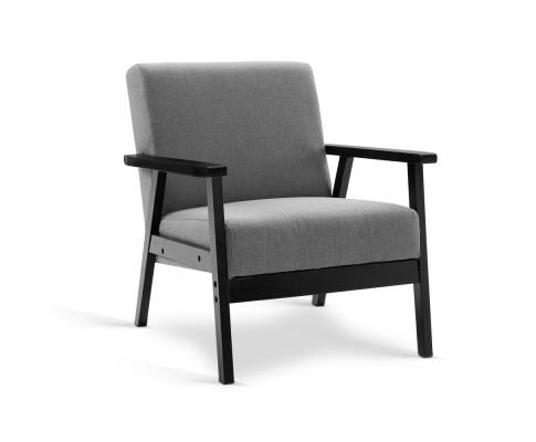 Artiss Fabric Dining Armchair - Black & Grey | 360HomeWare