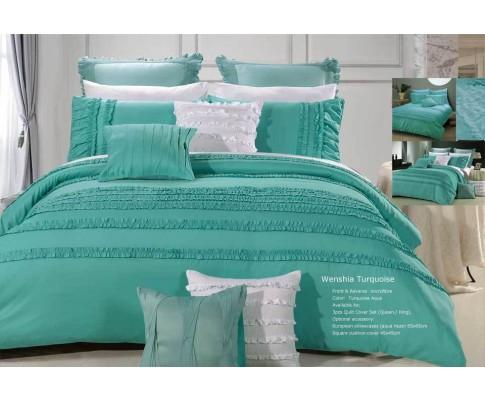 Wenshia Turquoise Quilt Cover Set (3PCS) | 360HomeWare
