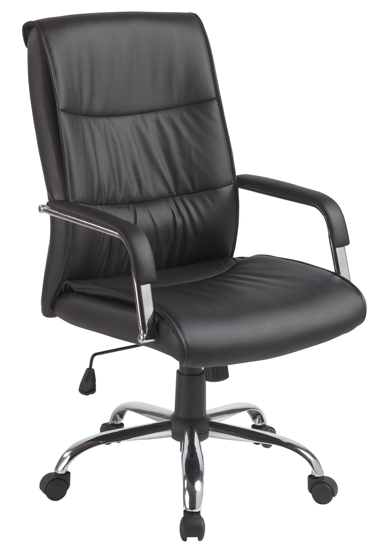 Classic PU Leather Office Chair Executive Padded Black | 360HomeWare