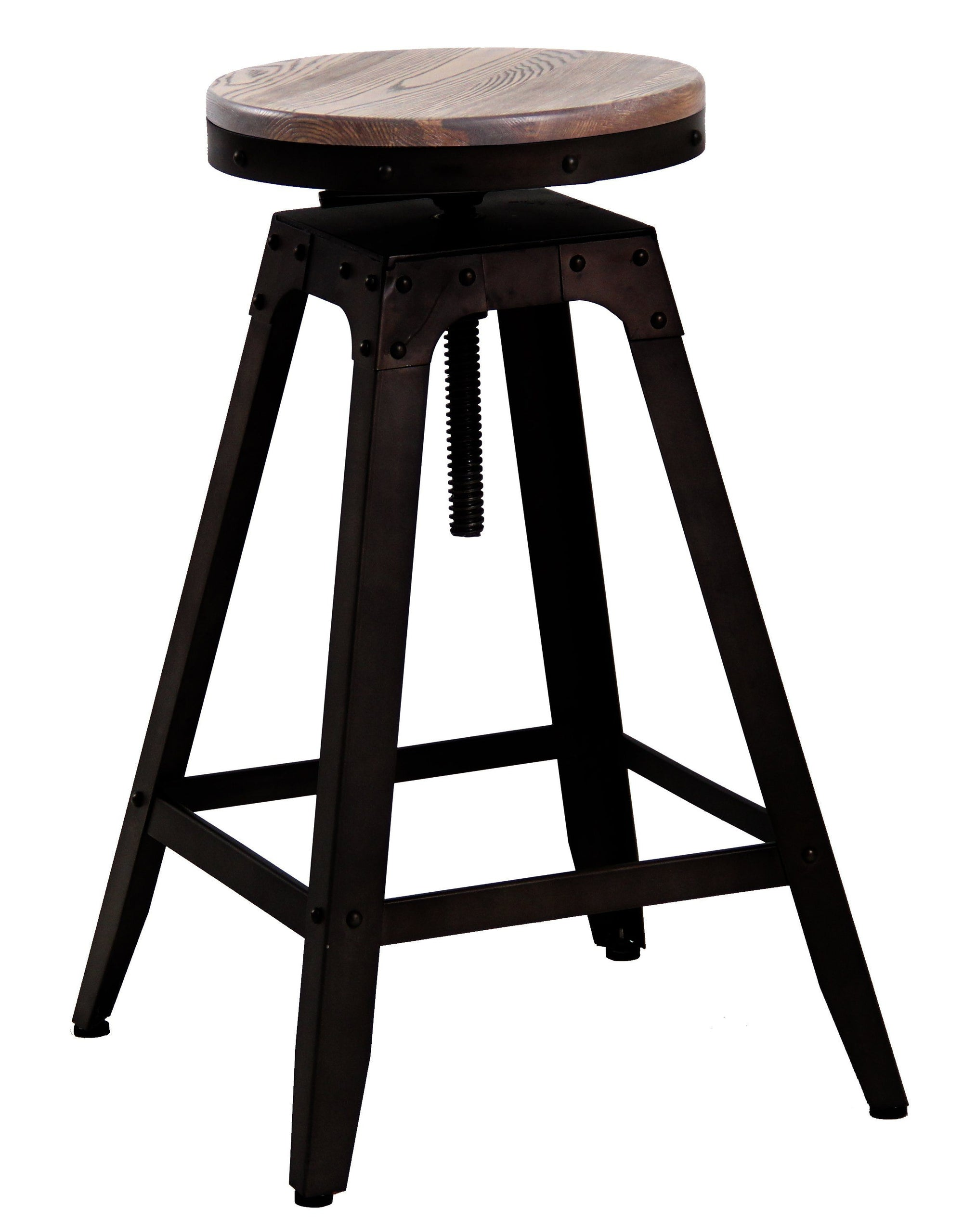 Adjustable Swivel Industrial Bar Stool | 360HomeWare