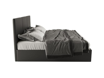 Venice PU Leather Gas Lift Bed Frame  - Black | 360HomeWare