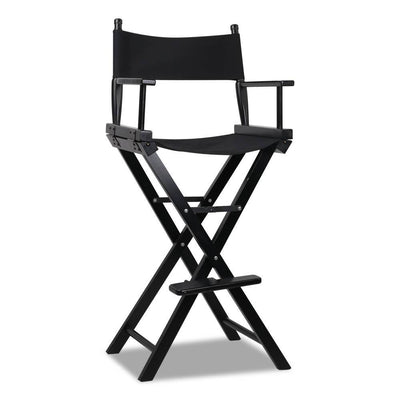Artiss Tall Director Chair - Black | 360HomeWare