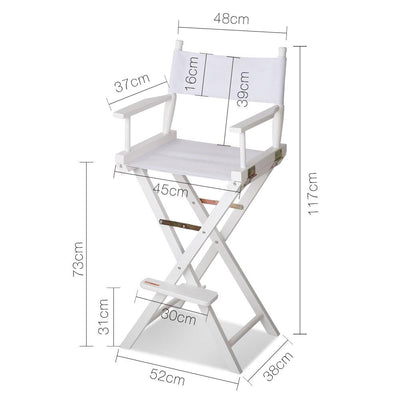Artiss Tall Director Chair - White | 360HomeWare