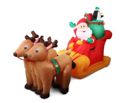 Inflatable Santa Sleigh Ride | 360HomeWare