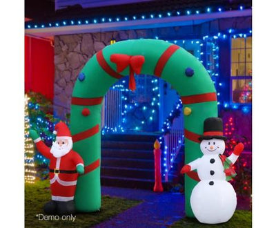 Inflatable Santa and Snowman Archway | 360HomeWare