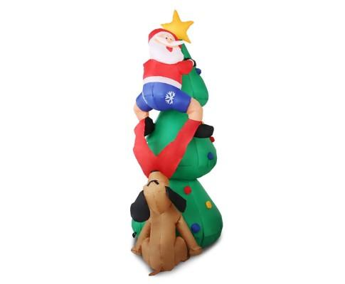 Inflatable Santa On Tree | 360HomeWare