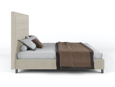 Cristina Bed Frame - Light Beige | 360HomeWare