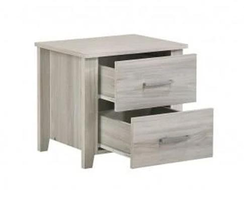 2 Drawers Bedside Table In White Oak | 360HomeWare